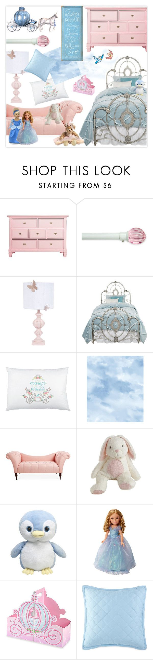 """Serenity & Rose Quartz Cinderella Bedroom"" by nancyreo ❤ liked on Polyvore featuring interior, interiors, interior design, home, home decor, interior decorating, Arlo Blinds, Disney, York Wallcoverings and bedroom"
