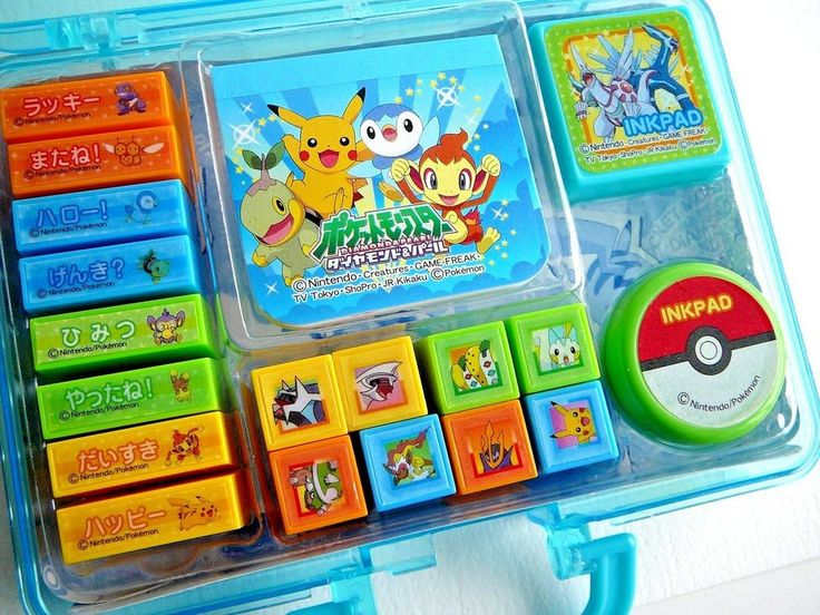 Pocket Monsters Diamond & Pearl Mini Stamp Set Case 20 Pcs Game Freak Pokemon #Nintendo