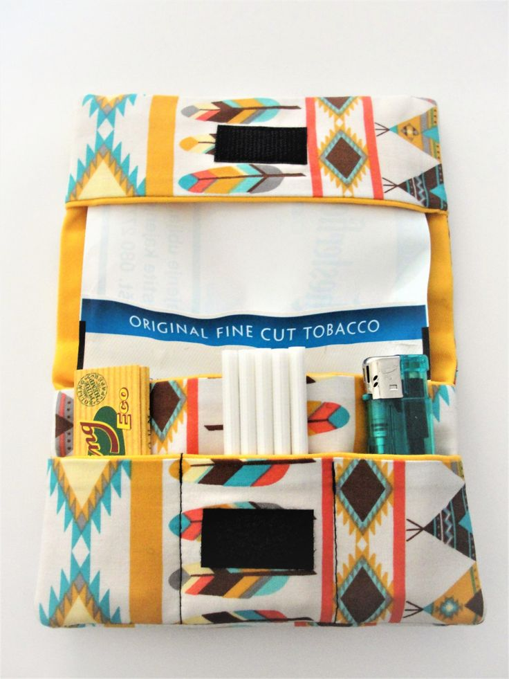 American Indian Tobacco Pouch by pouchladyshop on Etsy