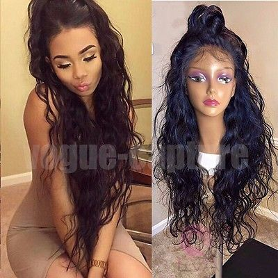 Full Lace Human Hair Wigs For Black Women Brazilian Full Lace With Baby Hair Wig