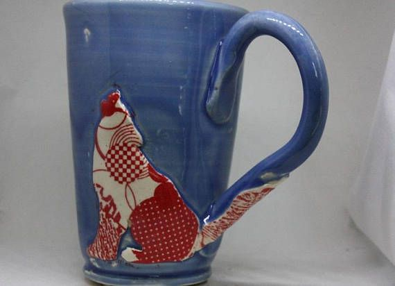 Hey, I found this really awesome Etsy listing at https://www.etsy.com/listing/574811415/whimsical-tattooed-wolf-mug-free