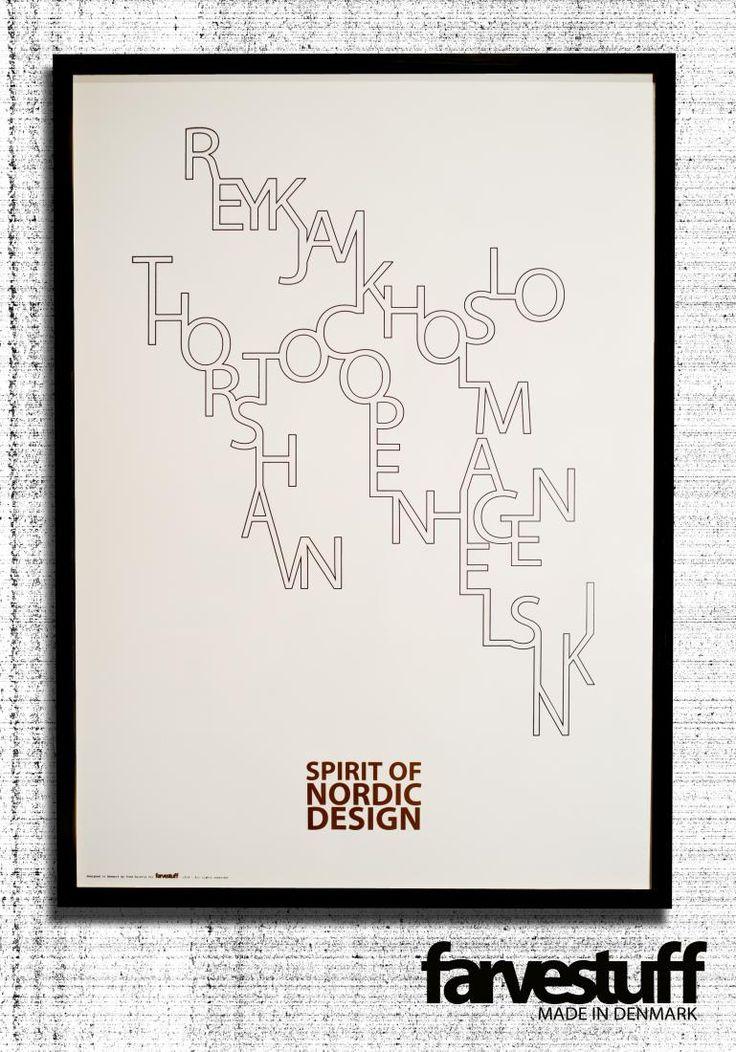 SPIRIT OF NORDIC DESIGN 50x70cm, farvestuff posters | Cocorico Déco