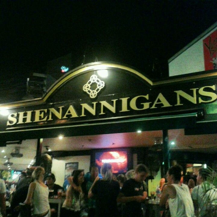 Shenannigans Irish Pub in the heart of Darwin, NT. A very popular spot on St Patricks Day!