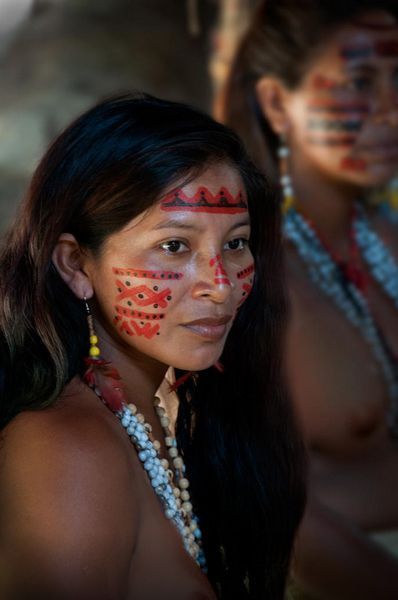 Brazil Indigenous women near the Amazon River by Greg Waters