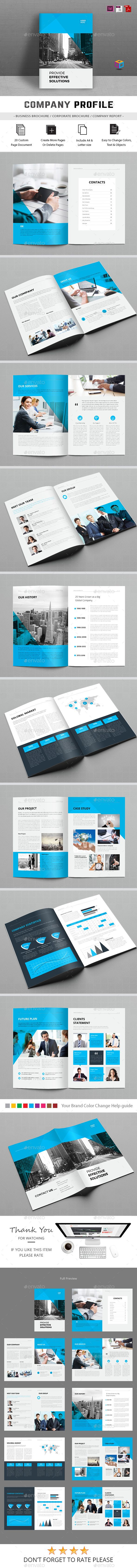 Company Profile  — InDesign Template #a4 #indesign • Download ➝ https://graphicriver.net/item/company-profile/18358452?ref=pxcr
