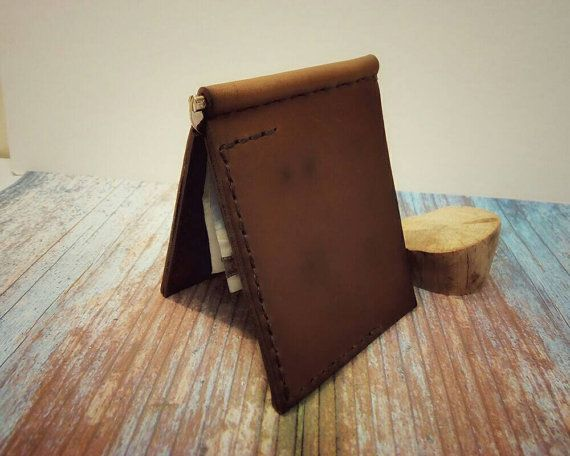 Money clip wallet money clip card holder money by VakalisCreations