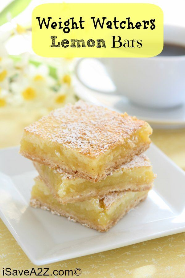 Weight Watchers Lemon Bars Recipe! Only 3 Points Per Serving! #easyrecipes #WeightWatchers #bestrecipes