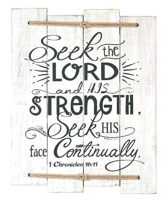 1 Chronicles 16:11 Wall Plaque