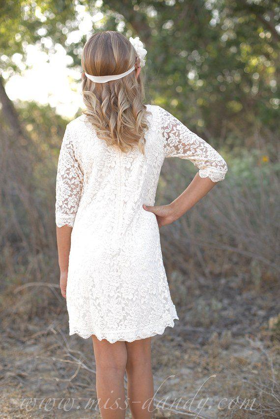Betere Bloemenmeisje jurk Lace bloemenmeisje jurk, Boho lace dress XO-82