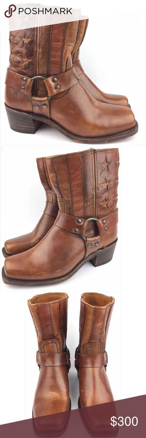 "Frye Harness Americana Tan Short Ankle Boots New with defects | Boots have marks and scratches due to storage | Actual Pictures | Original box not included | 100% Authentic  | 150th Anniversary | Size: US 6 Women's  Approx. Insole Length: 9 5/8"" - May run big Approx. Heel Height: 2"" Approx. Shaft Height: 9 1/2"" - Including Heel Frye Shoes Ankle Boots & Booties"