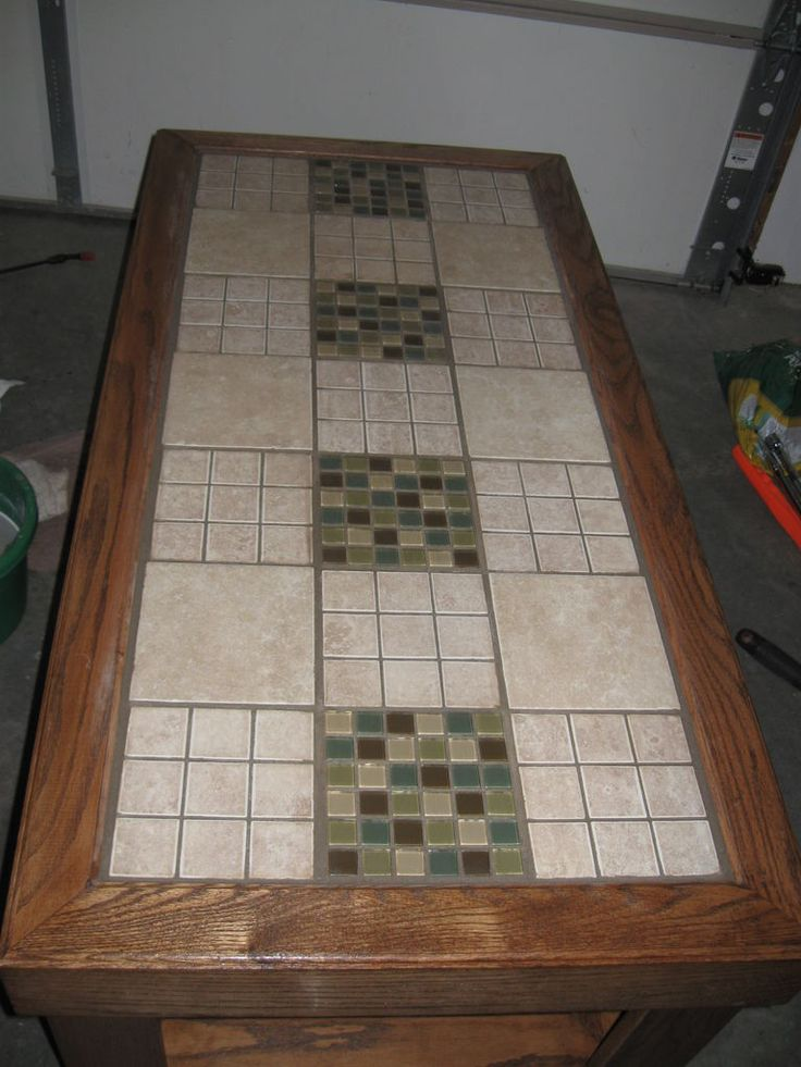 17 best ideas about tile top tables on pinterest tile for Mosaic tile bar top