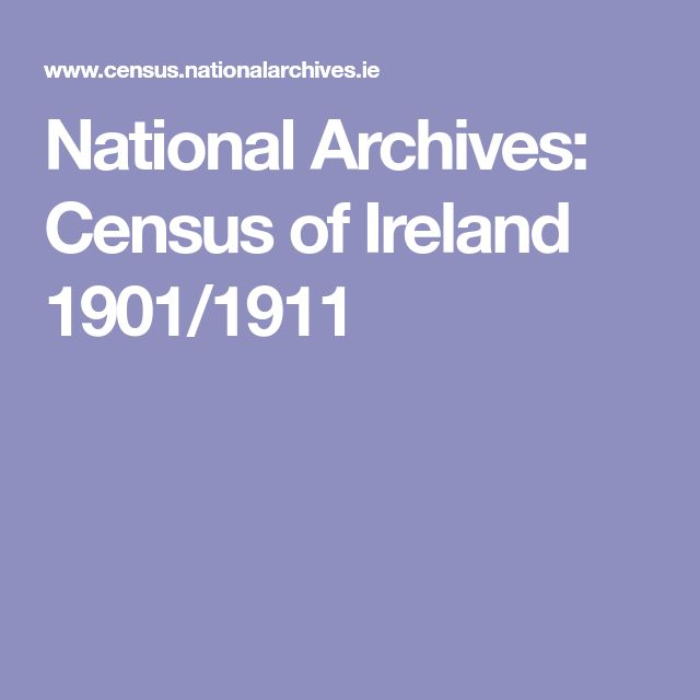 National Archives: Census of Ireland 1901/1911