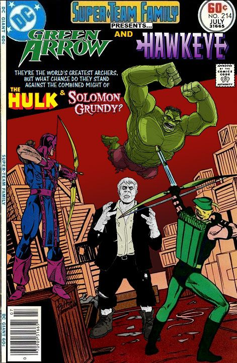 Super-Team Family: The Lost Issues!: Green Arrow and Hawkeye (Vs. The Hulk & Solomon Grundy)