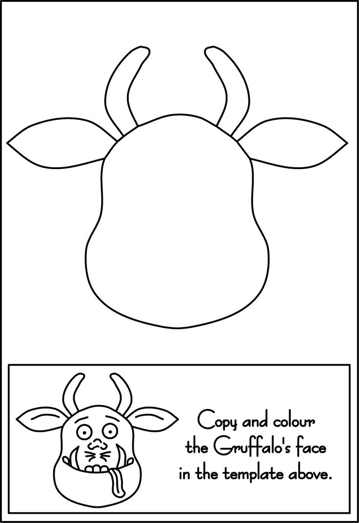 The gruffalo colouring pages to print - Gruffalo Craft Activity