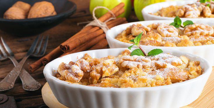 Tarta de manzana, canela y almendras libre de azúcar