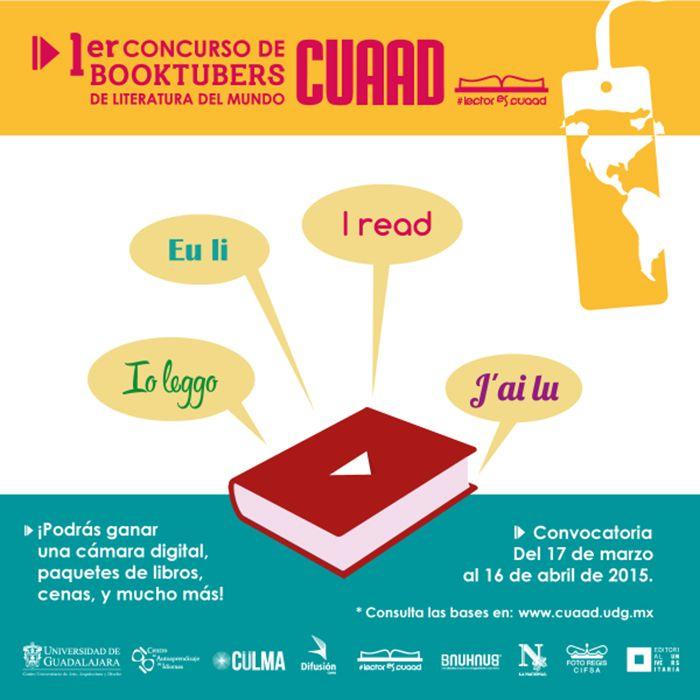 CUAAD organiza primer concurso de Booktubers de Literatura del Mundo