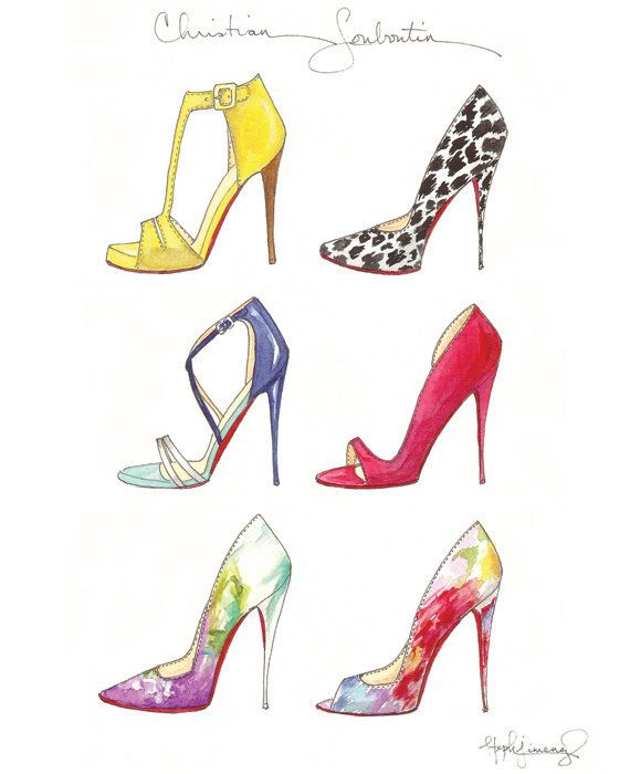 Six of the best stilettos from the Christian Louboutin 2014 Spring Collection Sextet Fashion Illustration
