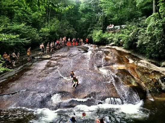 """Located in Pisgah National Forest Close to Asheville NC, this """"Sliding Rick"""" is a natural and beautiful water slide, and it only costs a dollar to ride!"""