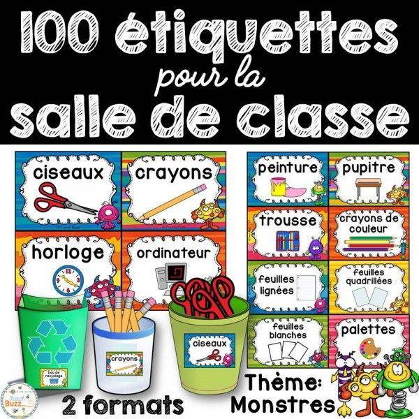 100 étiquettes pour la classe - Monstres