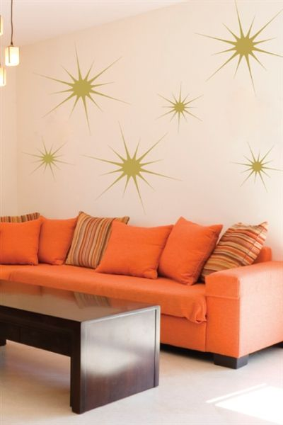 THESE!!!!!!!!!!!!!!!!!!!!!!!!!!!!! Timeless now matter how old they get! So fun! Starbursts Wall Decals- WALLTAT.com