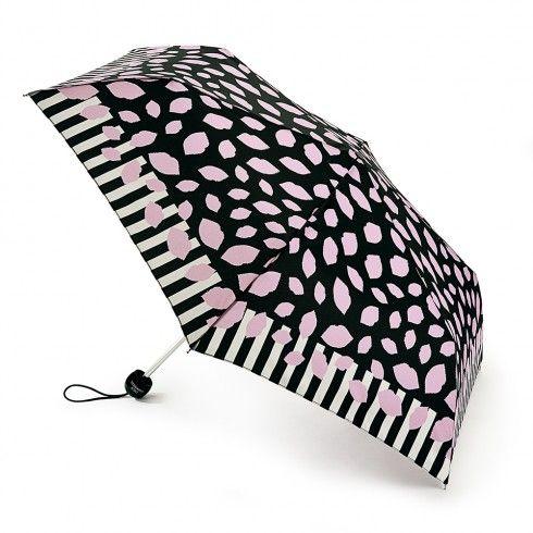 Scattered Lips Stripe Superslim Umbrella