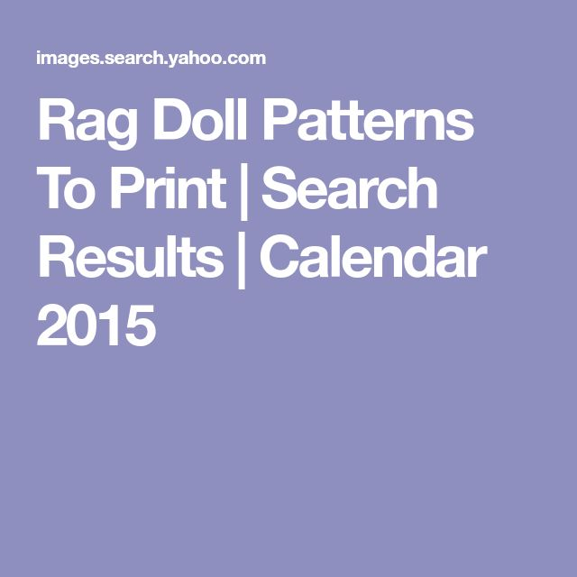 Rag Doll Patterns To Print | Search Results | Calendar 2015