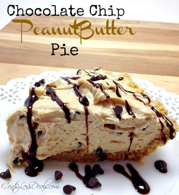 chocolate chip peanutbutter pie recipe! BEST pie ever!