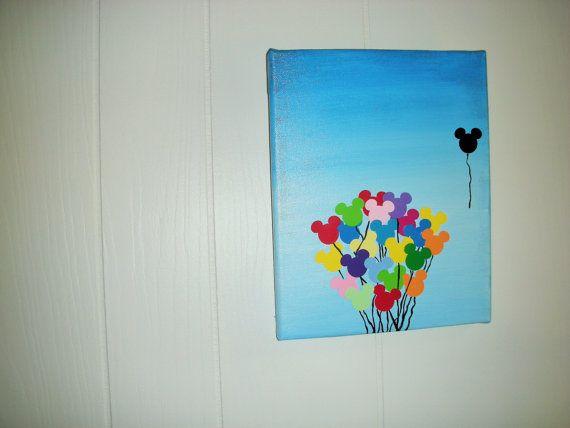 disney balloon canvas art by on etsy