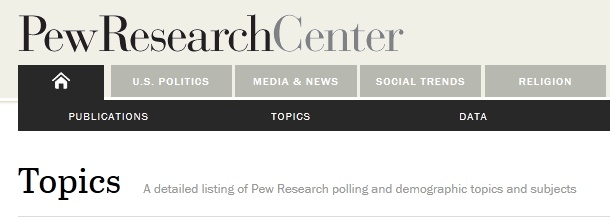 The Pew Research Center is a nonpartisan fact tank that provides information on the issues, attitudes and trends shaping America and the world. Search for economy or economics to find public opinion information on the topic.