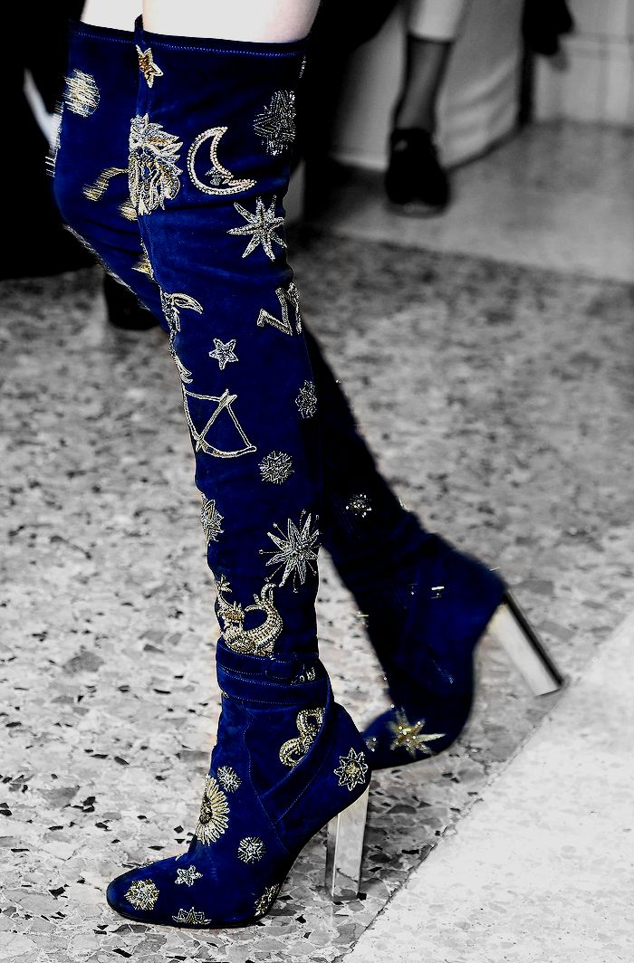 Shoes at Pucci Fall 2015. I could never wear these as my calves are massive!, but i appreciate the beauty