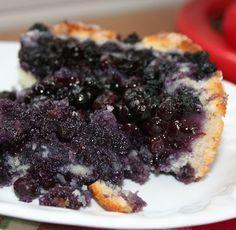 Gâteau~pouding aux bleuets