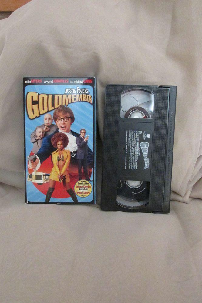 Austin Powers Goldmember VHS Comedy Movie Rated PG13 Bonus Music Videos 2002