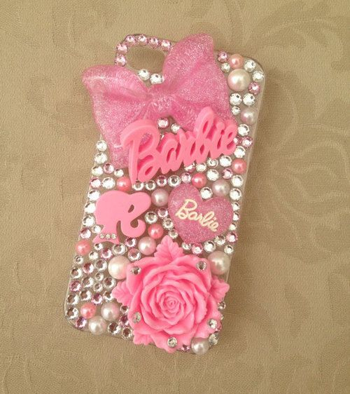 Pink Barbie Nicki Minaj Sparkly Swarovski Bling iPhone by beckkyb