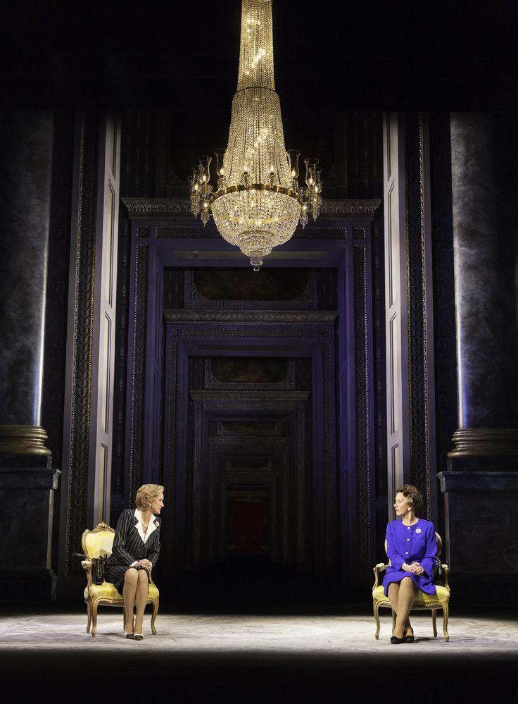 Haydn Gwynn as Margaret Thatcher and Helen Mirren as Queen Elizabeth in The Audience