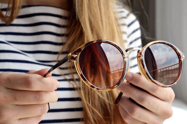 tortoise and metal sunglasses