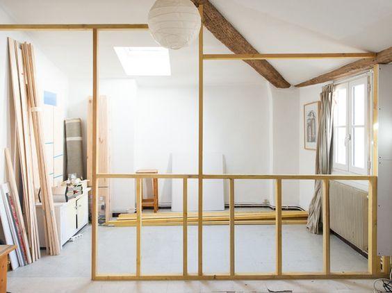 DIY : Fabriquer une verrière pour moins de 200€ by Jours & Nuits