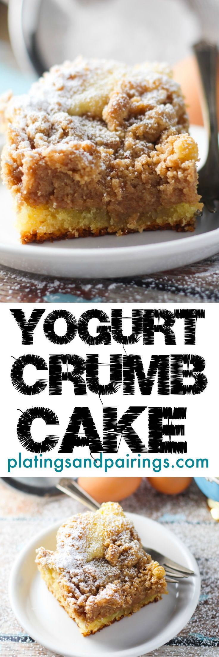 60% crumbs - 40% cake makes this AMAZING! Greek yogurt keeps it deliciously moist.