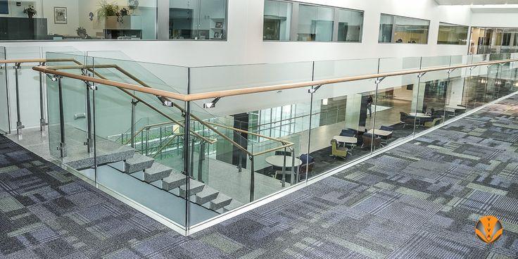 Aluminum Glass Railing - SUNY Business School - VIVA SHOE ...