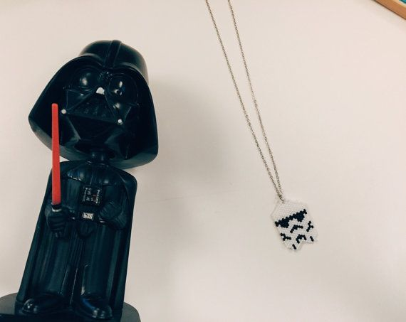 Stormtrooper necklace by themoa on Etsy