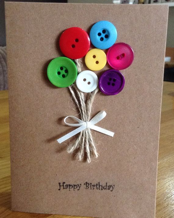 Handmade Button Cards by HareandBear on Etsy
