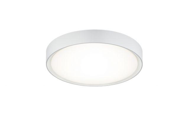 CLARIMO Trio - LED stropnica kúpeľňová - biely kov ø 330mm