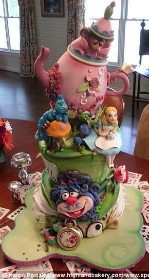 Mad Hatter Tea Party ~ Alice in Wonderland Cake!