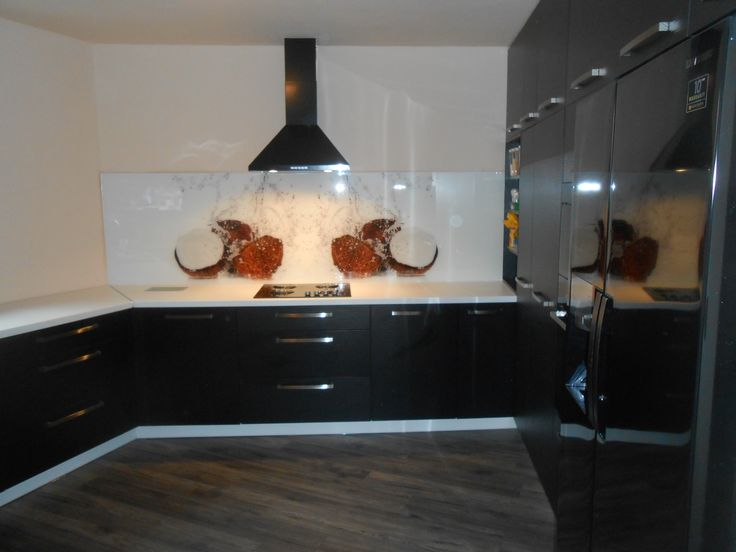 Glass splashback #glass #splashback #kitchen