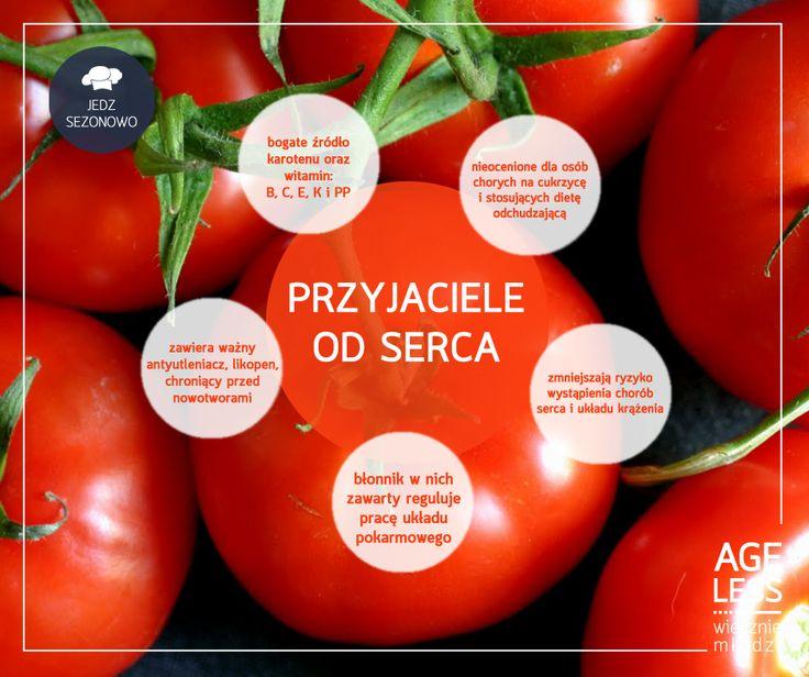 Prawdą jest, że keczup zawiera lepiej stężony likopen – tajną broń pomidorów, m.in. w walce z rakiem. Czy to znaczy, że należy zrezygnować z pomidorów? Absolutnie nie! To niezastąpione warzywo jest idealne nie tylko na kanapki, ale też jako element sałatek.  #ageless www.ageless.pl #wieczniemlodzi #wiecznamlodosc #pomidory #likopen #serce