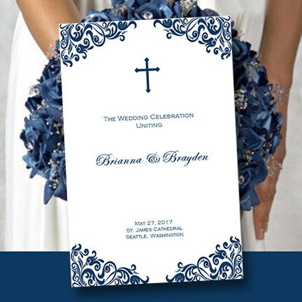 Best  Catholic Wedding Programs Ideas On   Wedding