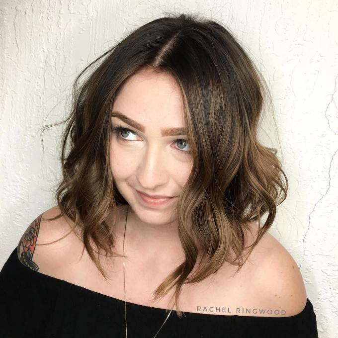 30 stylish and sassy bobs for round faces long wavy bobs