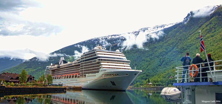 MSC Poesia at berth in Flaam, Norway.