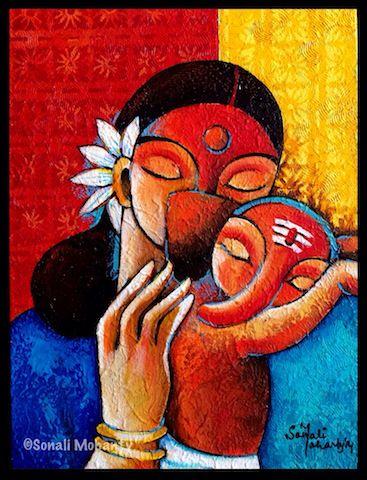 Gowri Ganesha – The Kiss of Love | Sonali Art Studio