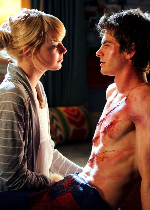 The Amazing Spiderman - Emma Stone & Andrew Garfield.  Could they be any cuter?