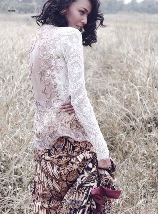 From Indonesian women's magazine Dewi - Gadis Tapak Bumi, Model: Reti Ragil, Photographer: Shadtoto Prasetio, Stylist: Karin Wijaya, Make Up & Hair Do: Bubah Alfian, Wardrobe: Anne Avantie